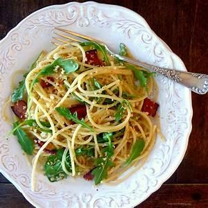 pasta with prosciutto and arugula