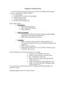 Literary Essay Outline Example