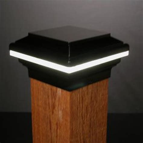 6x6 Lighted Deck Post Caps by Saturn Low Voltage Led Post Cap 6x6 Wood