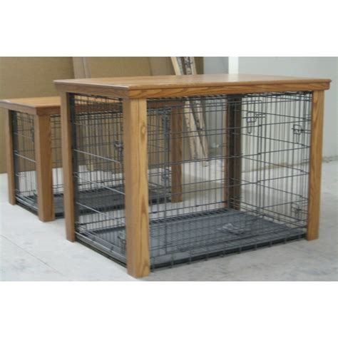 wooden dog crate table wooden table dog crate cover