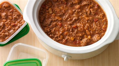 meals cooked with ground beef genius slow cooker taco ground beef 4 dinners pillsbury com