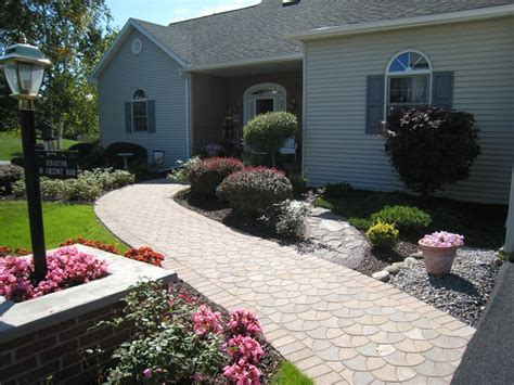 front yard paver designs paver new hartford ny photo gallery landscaping network