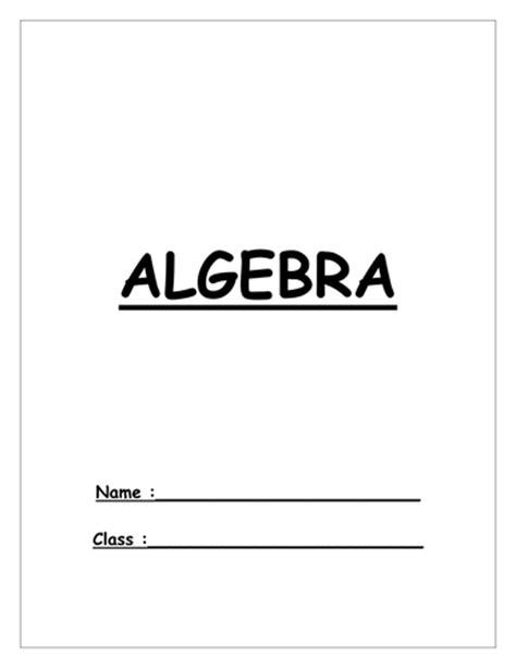 maths ks3 year 7 algebra booklet homework by