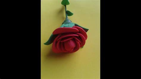 manualidades rosa de goma eva paso a paso (rose foami