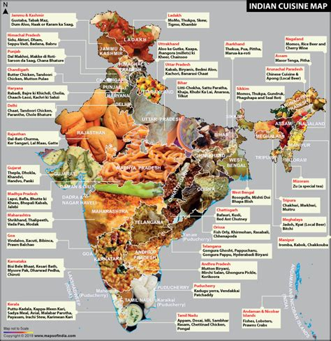 indian cuisine map indian food
