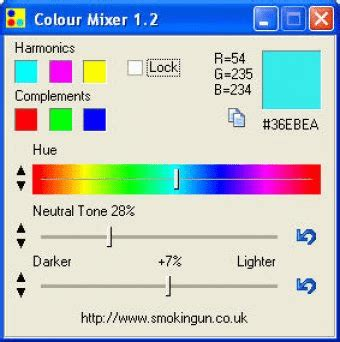 paint color mixing software colour mixer software informer colour mixer is a freeware utility program for mixing colours