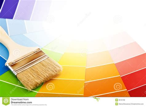 paint brush with color cards stock photo image of paint