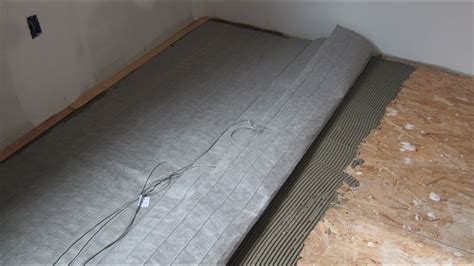 Electric Radiant Heat Mat - install radiant heating floor mat 1 of 3