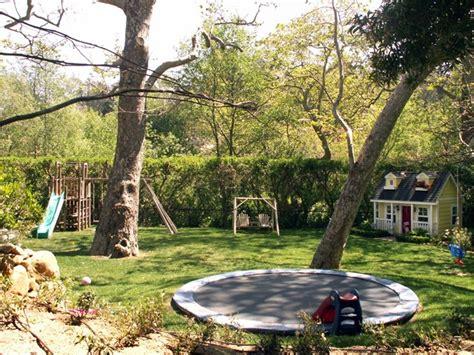 landscape designs for large backyards large backyard with troline backyard landscaping grace design associates santa barbara ca