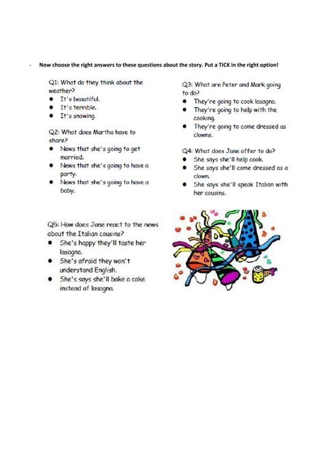 reading comprehension future tense worksheet