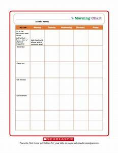 Morning Routine Printable Chart Morning Routine Chart Worksheets Printables