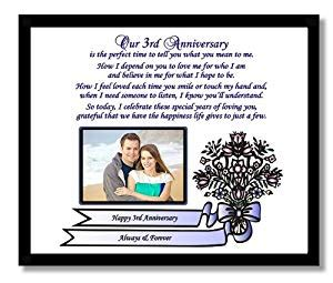 Amazoncom 3rd Wedding Anniversary Gift For Wife Or