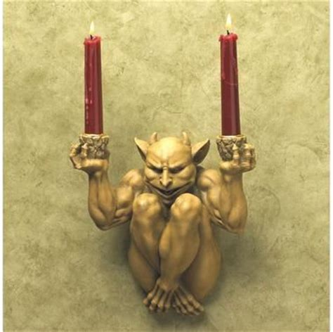 you light up my the offering gargoyle wall sconce