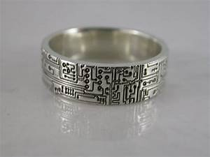 circuit board ring sterling silver bronze stainless steel With wedding rings that don t conduct electricity