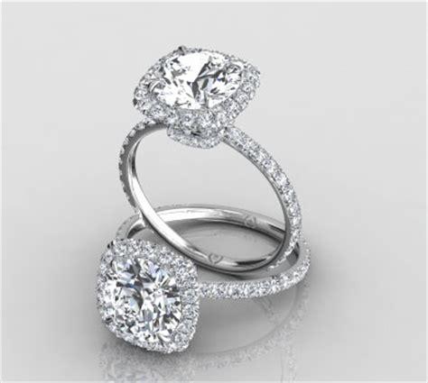 cut halo engagement rings unique engagement rings