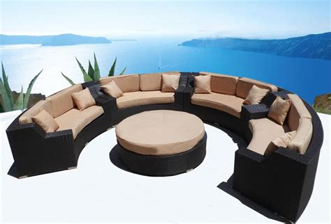 modern wicker sectional sofa outdoor patio