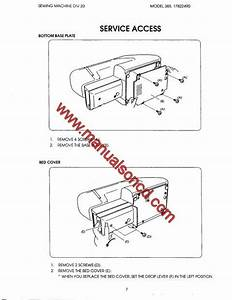 Kenmore 385 17126690 Sewing Machine Service Manual