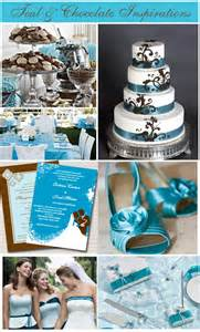 teal wedding colors teal and chocolate wedding theme inspiration board storkie