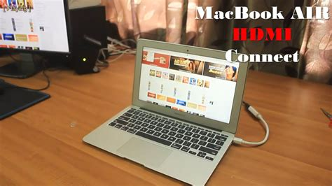 amac book air connect macbook air to external display with hdmi cable