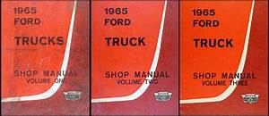 1965 Ford F100 F250 F350 Pickup Truck Owner U0026 39 S Manual Reprint