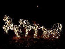 lighted horse  carriage yard art google search