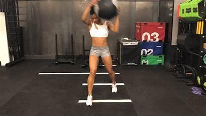 Ball Slam Rotational Lunge Exercise Exercises Fitness