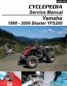 Yamaha Blaster Yfs200 Atv Cyclepedia Printed Service