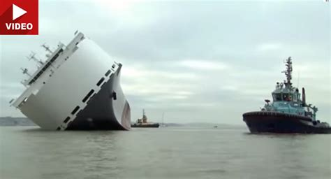 Cargo Ship Carrying Some 1,400 Jaguars, Land Rovers, Rolls