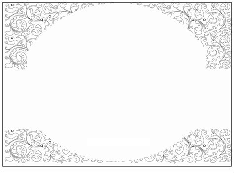 card template blank invitation templates   word