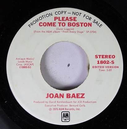 Boston Come Please Joan Baez Promo Rock