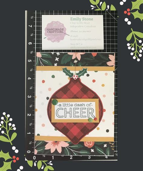 ctmh cedar  pine cardstock christmas cards close