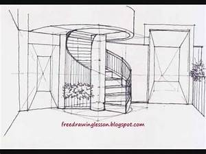 Download link Youtube: how to draw spiral staircase