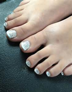 Toe nail designs images pink glitter