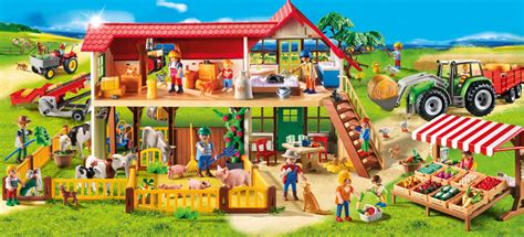 playmobil 6120 grande ferme achat vente univers miniature cdiscount