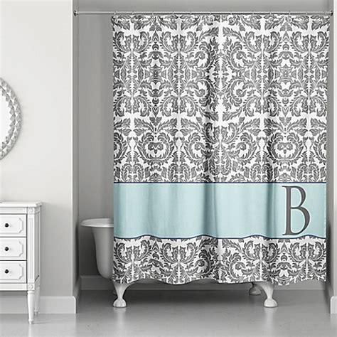 blue grey shower curtain botanical leaves shower curtain in grey blue bed bath 4818