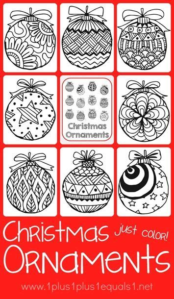 google printable christmas adult ornaments thanksgiving doodle coloring pages ornament