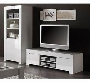 Meuble Tele Moderne : meuble t l moderne blanc laqu e trendy 1754 ~ Teatrodelosmanantiales.com Idées de Décoration