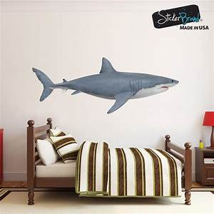 great white shark wall decal shark vinyl decals With shark wall decals