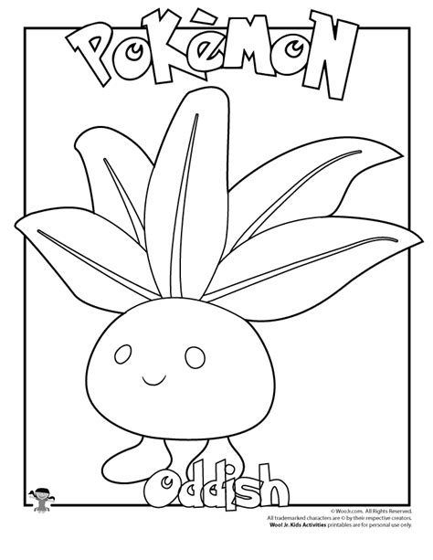 oddish coloring page woo jr kids activities