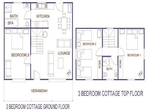 bedroom cottage house plans rustic house plans  bedroom cottages treesranchcom