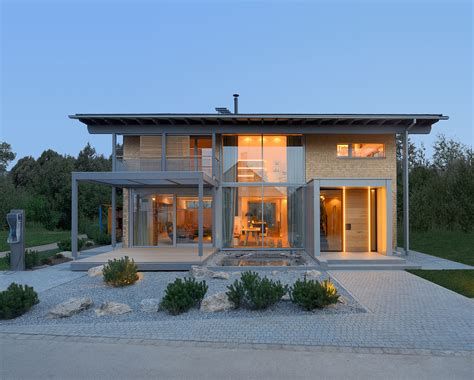 modern contemporary house smart house by baufritz certified self sufficient