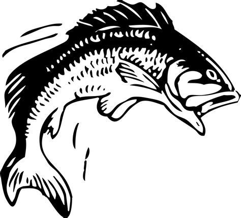 clip art fish bass fishing clip art  printable fish stencils clipartix