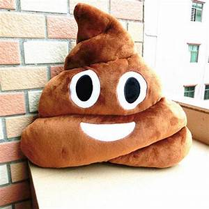 Funny Poop emoji pillow decorative pillow from