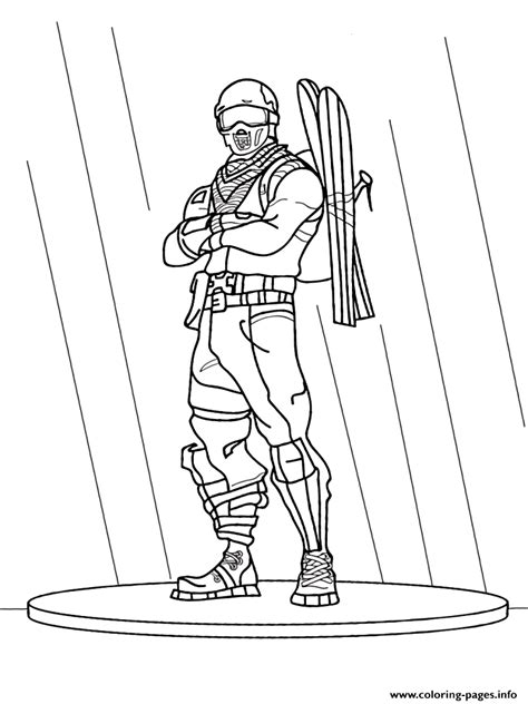 fortnite game coloring pages printable