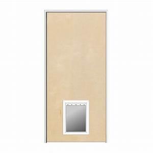 mmi door 32 in x 80 in 1 3 4 in thick flush left hand With solid door with dog door