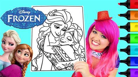 coloring frozen anna elsa disney coloring book page