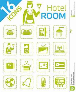 Hotel room icons stock vector. Image of hotel, icon ...