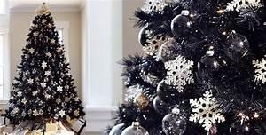 Noel Noir Et Blanc : sapin de noel noir et blanc d coration sapin de noel baroque en noir et blanc ~ Melissatoandfro.com Idées de Décoration