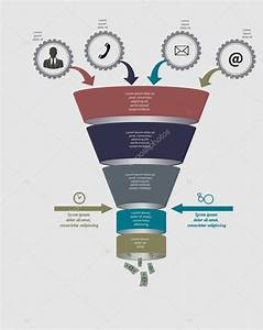 Funnel Flow Chart  Vector Template For Diagram  Graph