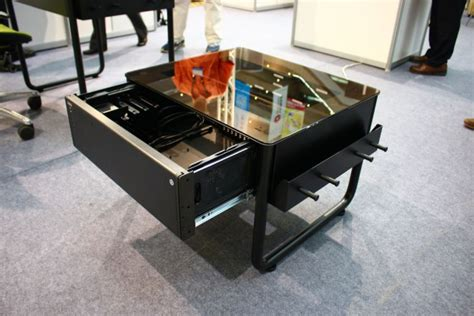 boitier bureau computex 2014 lian li dk q1x une table basse bureau